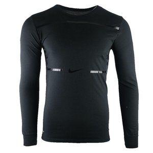 Nike Dri-Fit Men's Black L/S Logo Graphic Tee L